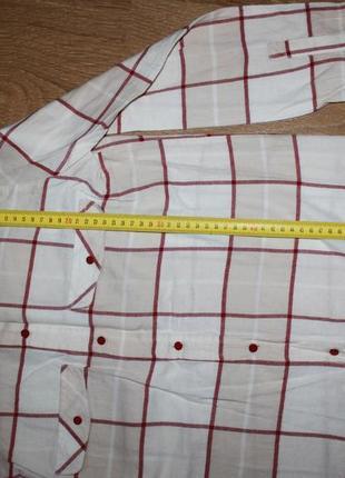 Светлая рубашка в клетку h&m 36-38р.4 фото