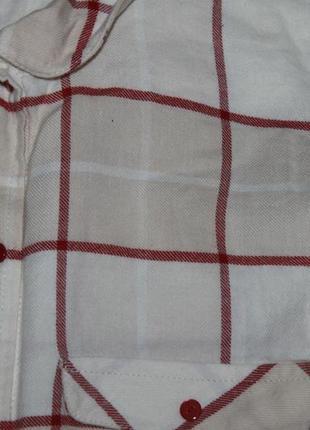 Светлая рубашка в клетку h&m 36-38р.6 фото