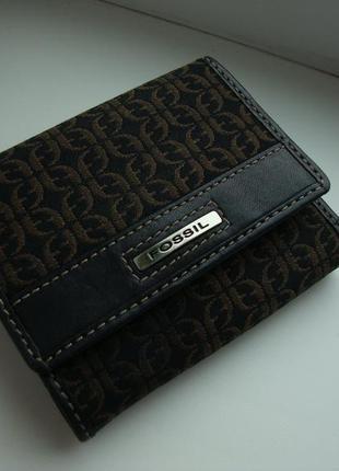 Фірмовий багатофункціональний американський гаманець fossil. оригінал!!!