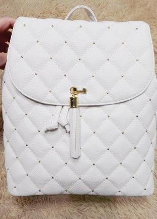 Стильный белоснежный рюкзак, городской