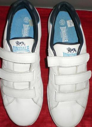 Кожаные кроссовки lonsdale (лонсдейл) 43р. стелька 28см.3