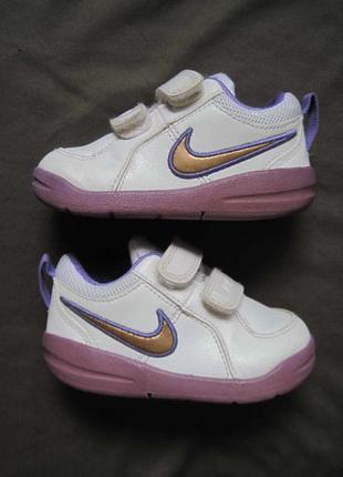 Nike pico 4 (20) кожаные кроссовки детские