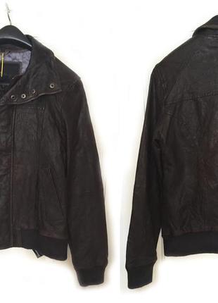 Новая кожаная куртка от бренда goosecraft!!! унисекс