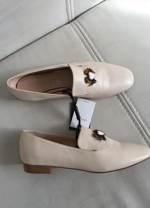 Красивые туфли лоферы слиперы натуральная кожа zara оригинал