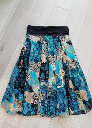 Длинная натуральная юбка