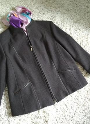Актуальное лёгкое шерстяное пальто, жакет, пиджак, marcona, p. 16