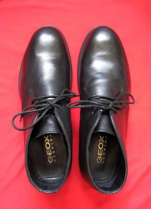 Geox respira u1352p (42) кожаные ботинки мужские4 фото