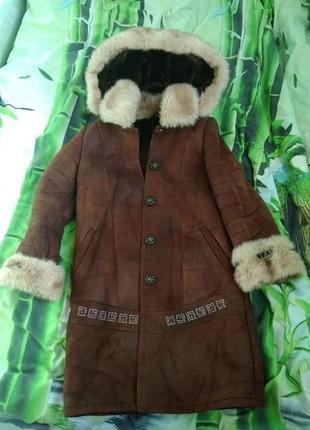 Зимняя дубленка classic fashion