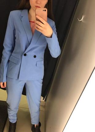 Голубой жакет пиджак ostin2 фото
