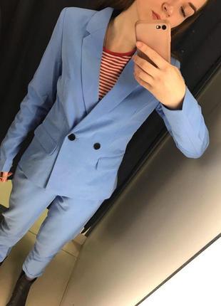 Голубой жакет пиджак ostin4 фото