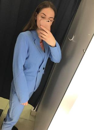 Голубой жакет пиджак ostin6 фото