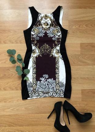 Платье мини в стиле барокко