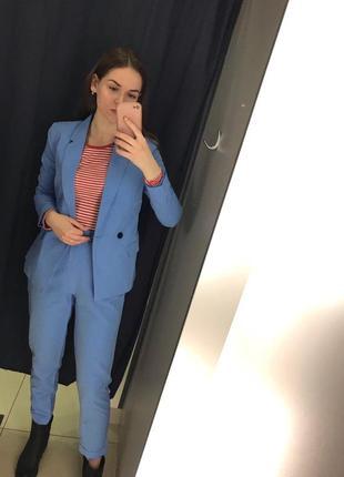 Голубые брюки штаны ostin