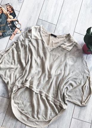 Стильная кофта пончо свитер летучая мышь накидка