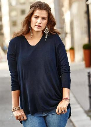 Пуловер со вставкой на спине от тсм tchibo (чибо), германия, евро 48/50 (наш 54/56)