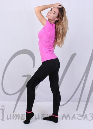 Женские спортивные лосины, леггинсы для фитнеса, йоги, бега, одежда в спортзал. код:110106