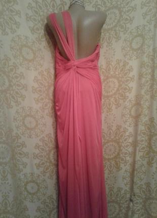 Ярко-розовое шифоновое платье, м -l3 фото