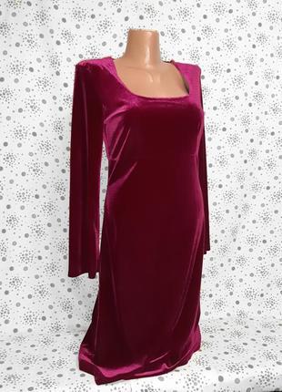 Изысканное велюровое платье