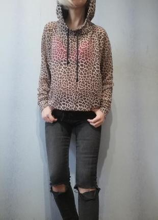 Леопардовая летняя худи толстовка divided