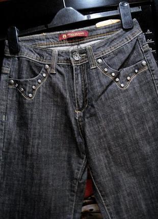 Moss (италия)   джинсы клеш  новые с бирками w 27/ l 347 фото