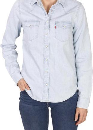 Джинсовая рубашка levi's белая