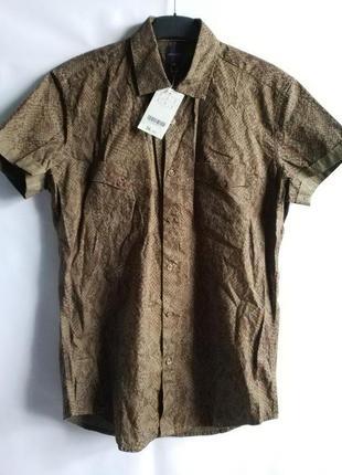 Рубашка короткий рукав тенниска promod оригинал европа франция