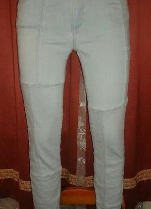 Укороченные джинсы, фактурные скинни