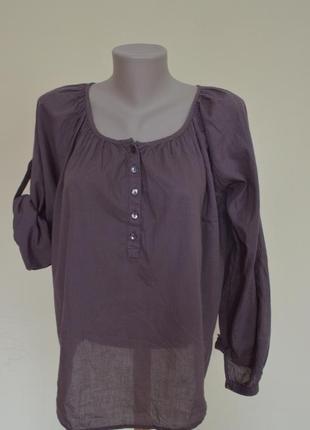 Классная легкая блузочка из котона свободного фасона