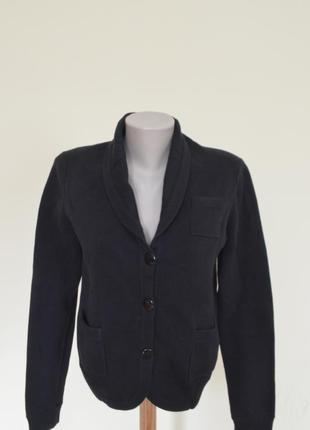 Шикарная брендовая кофта-кардиган из котона черная