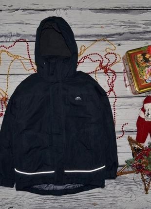 7 - 8 лет 128 см фирменная мего крутая теплая зимняя лыжная термо куртка trespass треспас