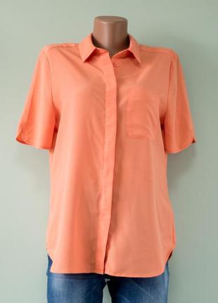 Большой выбор блуз - нежная оранжевая блуза