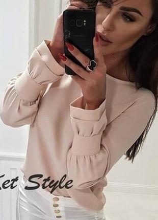 Красивая блузка с интересным рукавом.