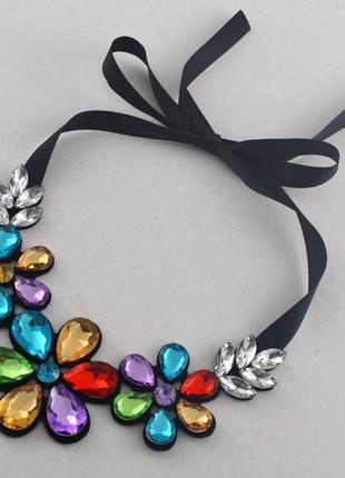 Ожерелье бусы воротничок украшение