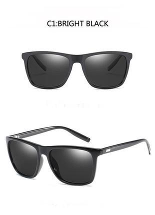 Солнцезащитные классические унисекс поляризованные очки-вайфареры черные дымчатые