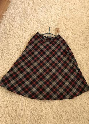 Шерстяная юбка полусолнце