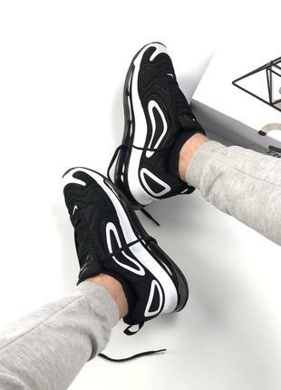Шикарные кроссовки nike air max 720 black white2 фото