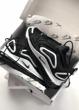 Шикарные кроссовки nike air max 720 black white4 фото