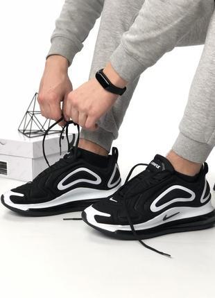 Шикарные кроссовки nike air max 720 black white5 фото
