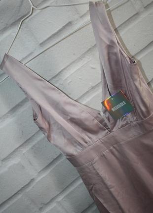 Сатиновое вечернее макси платье5 фото