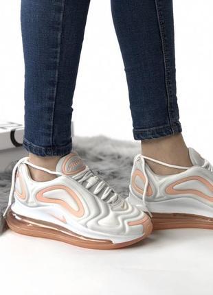 Шикарные женские кроссовки nike air max 720 white
