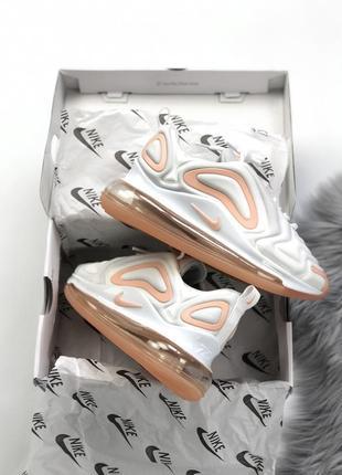 Шикарные женские кроссовки nike air max 720 white3 фото
