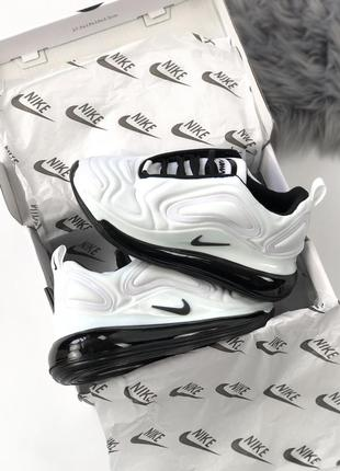 Шикарные кроссовки nike air max 720 white black5 фото