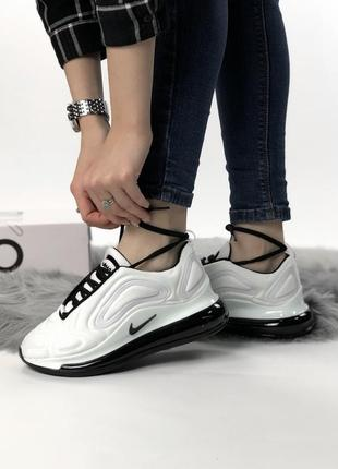 Шикарные кроссовки nike air max 720 white black2 фото