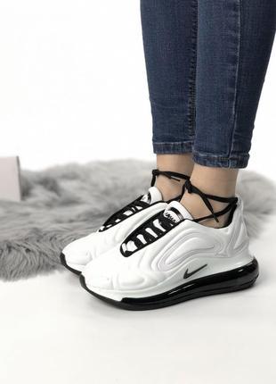 Шикарные кроссовки nike air max 720 white black