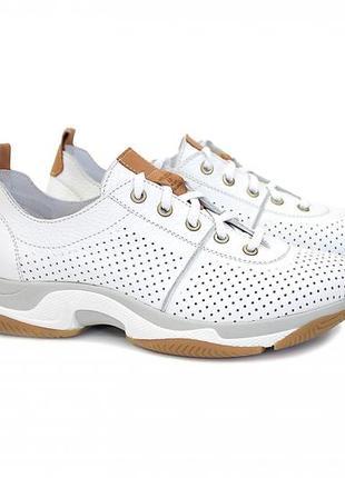 Стильные кожаные кроссовки, в наличии все размеры