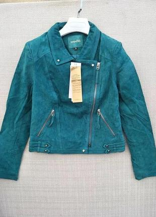 Кожаная куртка -косуха etam weekend, натуральный замш