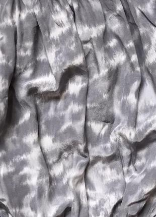 Блузка с открытыми плечами michel kors/100% silk/кроп топ/логнг слив/100% шёлк/оригинал6 фото