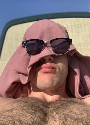 Шикарные мужские солнцезащитные очки ray ban round clubmaster gold 😍