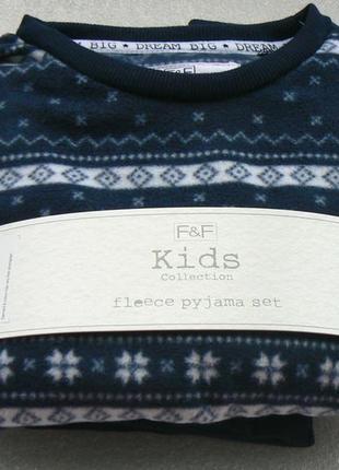 Красивая флисовая пижамка мальчику из англии