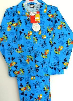 Фланелевые пижамки старшим  мальчикам  из англии